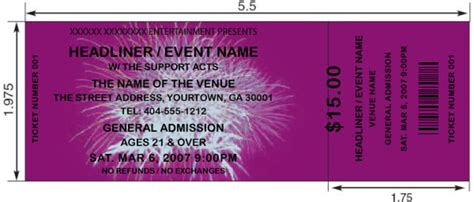 Purple Fireworks Tickets By Freshtix Ticket Printing New Years Ticket Template