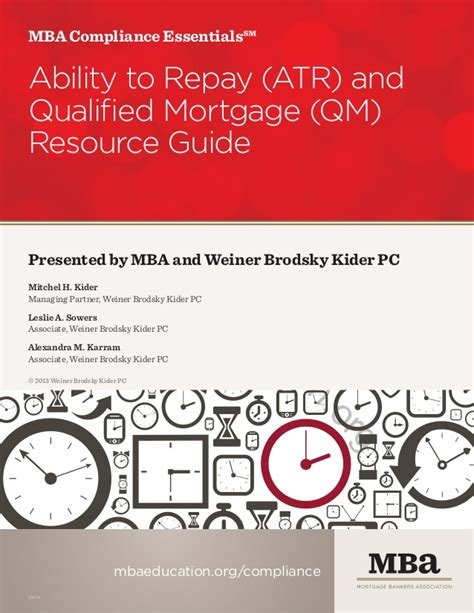 Mba Qualified by Mba Compliance Essentials Atr Qm Resource Guide