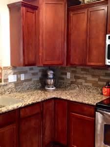 airstone backsplash in kitchen quot autumn mountain quot maple