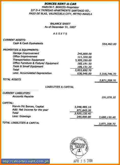 contemporary business statement financial statements templates financial statement