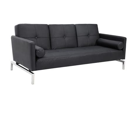 Divani Sofa Bed by Dreamfurniture Divani Casa 3038 Modern Black