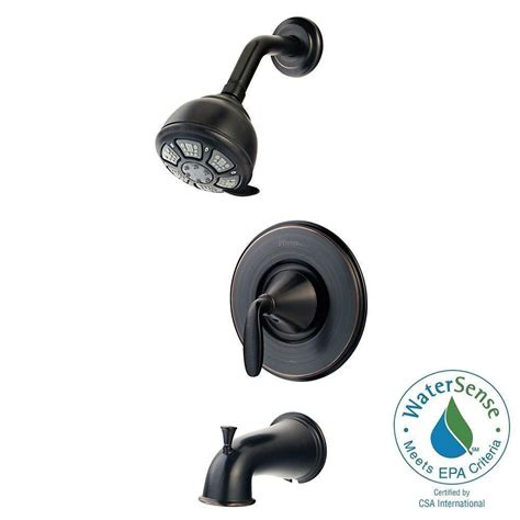Pfister 3 Handle Shower Faucet by Pfister Pasadena Single Handle 3 Spray Tub And Shower