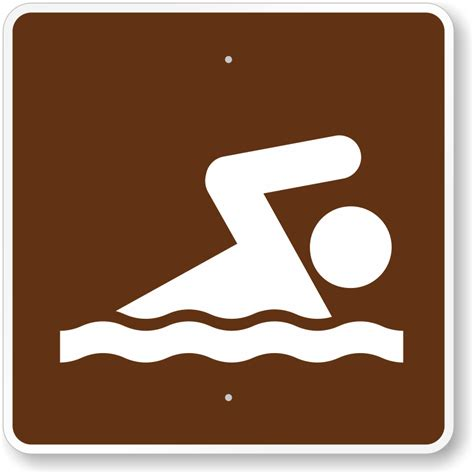 swimming mutcd guide sign for cground sku x rs 061