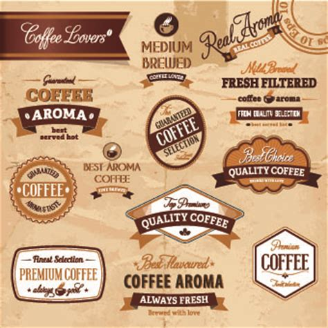 Classic Coffee Labels Design Vector 02 Vector Label Free Download Coffee Label Design Template