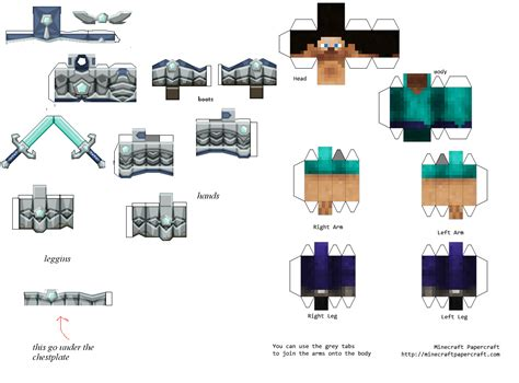 Minecraft Papercraft Collection - the gallery for gt minecraft armor papercraft