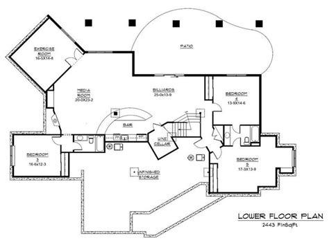 Plan Houses Floor Plans For Large Homes Floor Plan Basement For
