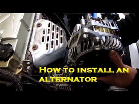 how to change alternator belt mitsubishi eclipse 00 05 alternator replacement installation youtube