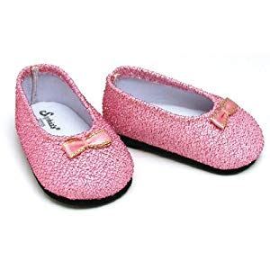 light pink glitter shoes amazon com light pink glitter shoes fits 18 inch