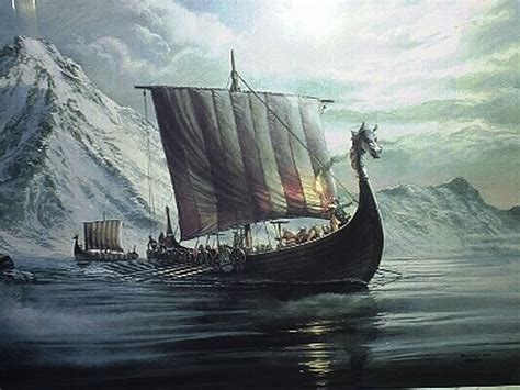 viking boats pictures in the company of plants and rocks sunstone compass of