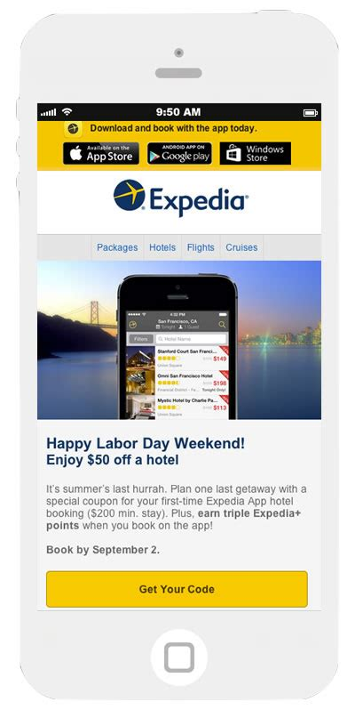 email expedia using coupons and discount codes in email teach to fish