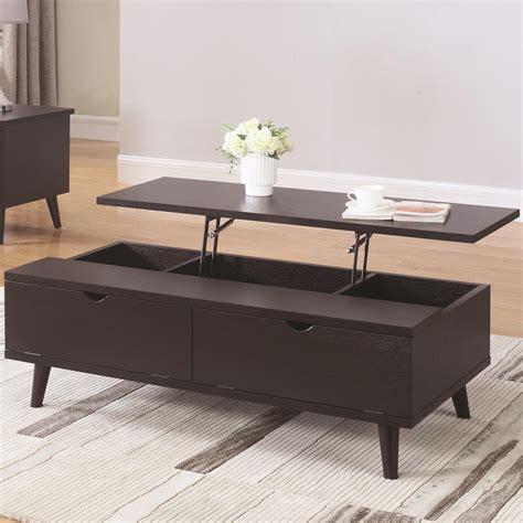 coaster furniture lift top coffee table coaster 72112 mid century modern lift top coffee table
