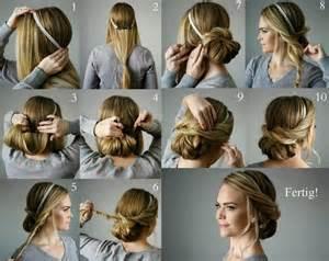 frisuren anleitung mit haarband die besten 17 ideen zu frisuren mit haarband auf