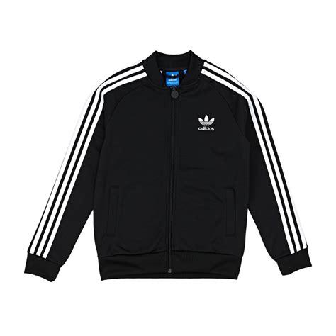 Jaket Hoodie Tgh Black Original adidas originals superstar jacket black white