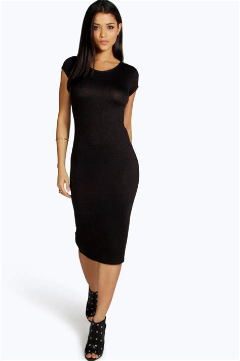 Plain Lola Dress 1 lola cap sleeve midi dress at boohoo