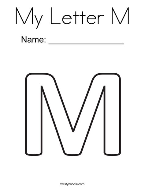 coloring page for letter m my letter m coloring page twisty noodle