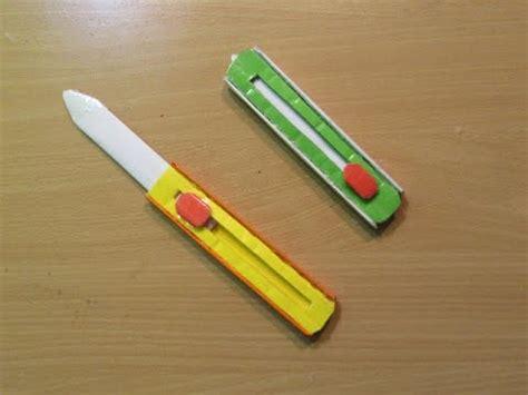 Make Paper Pocket Knife - how to make a paper hitcher knife easy tutorials