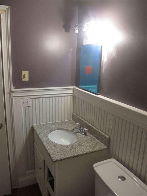 hometalk beadboard bathroom