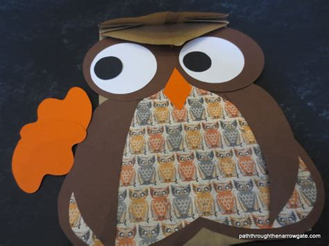 Paper Bag Owl Craft - paper bag owls