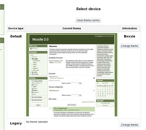 moodle theme selector blank moodle in english an issue with theme selector