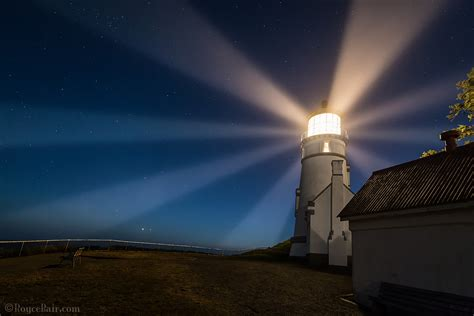 light house at night heceta head lighthouse at night the rotating beacon of