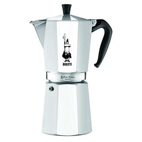 Bialetti Mokapot 1 Cup Italy Kopi Espresso the original bialetti moka express made in italy 12 cup stovetop espresso maker with patented