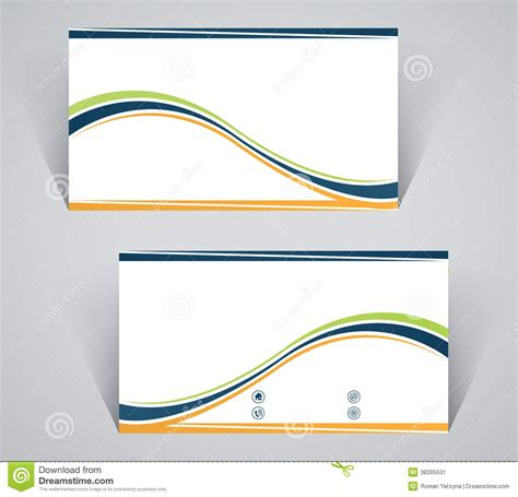 Stripe Credit Card Template by Business Card Simple Template With Stripes Stock Image