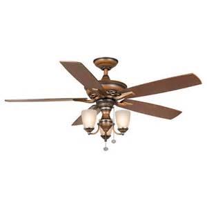 Hampton Bay Dual Ceiling Fan Hampton Bay Havenville 52 In Berre Walnut Ceiling Fan