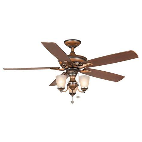 Hton Bay Havenville 52 In Berre Walnut Ceiling Fan Home Depot Ceiling Fans Hton Bay
