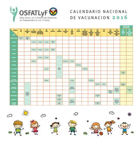 Calendario B Nacional Calendario Nacional De Vacunaci 243 N Osfatlyf