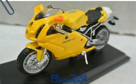 yellow 1 18 scale maisto diecast ducati 749s motorcycle
