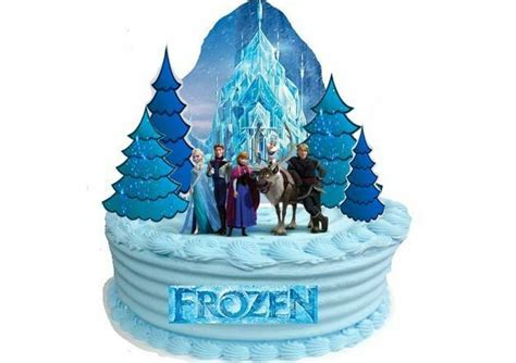 edible disney frozen castle wafer standup birthday party decoration cake toppers ebay