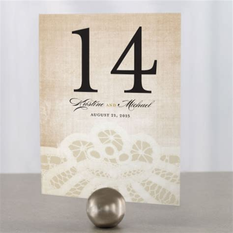 Table Number by Vintage Lace Table Number The Knot Shop