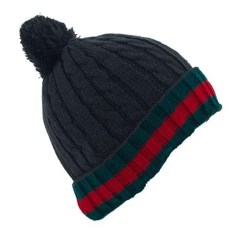 pom pom knit hat pattern stripe pattern unisex knitted pom pom ski hat ebay