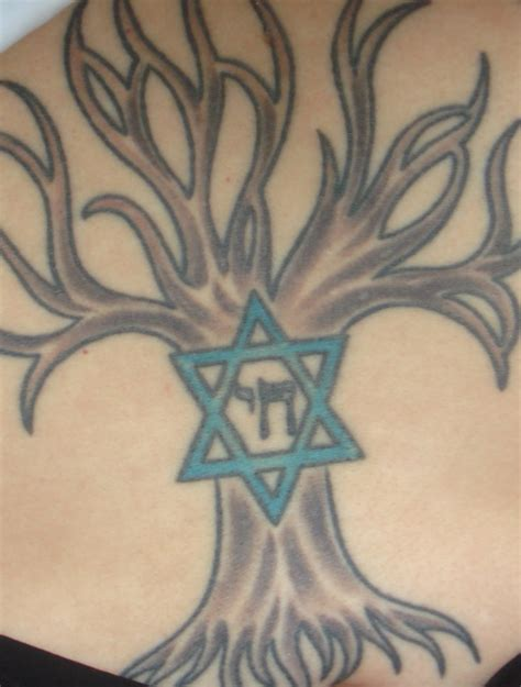 jewish tattoo designs tree of of david chai hebrew