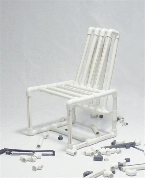 pvc couch pvc pipes chair by ahmed bedair furniture pinterest