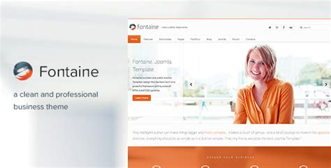 fontaine responsive joomla business template by