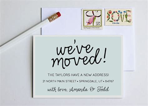 Business Moving Announcement Note Card Word Template by Moving Announcement Change Of Address New Home By