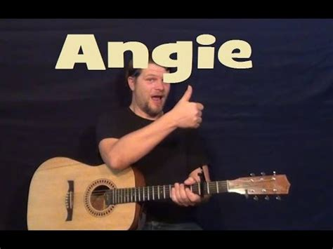 tutorial guitar angie angie rolling stones easy strum guitar lesson licks how