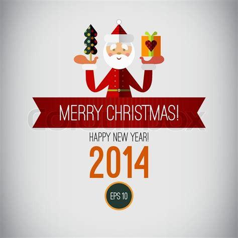 happy holiday tree ribbon merry design happy new year 2014 vintage tree santa ribbon
