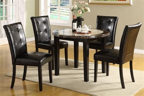 5pc Faux Marble Dining Table Set Atlas Marble Top Solid Wood Dining Table Set 5pc