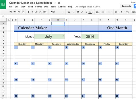 printable calendar google docs google docs calendar template spreadsheet business