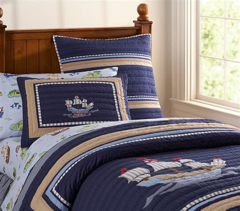 pirate bedding pirate quilted bedding pottery barn kids