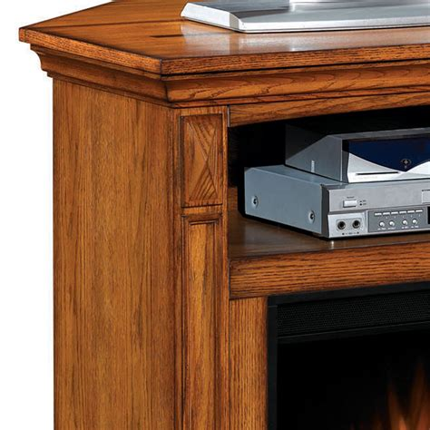 oak corner entertainment center with fireplace electric fireplaces from portablefireplace