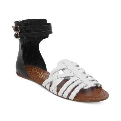 Flat Shoes Cynthia Bernice 595 lyst rumorre huarache flat sandals in black