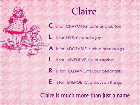 claire meaning popularity origin of baby name claire acrostic name poems for girls claire