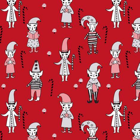 fabric elf pattern santa s elves christmas cute fabric pattern holiday spirit