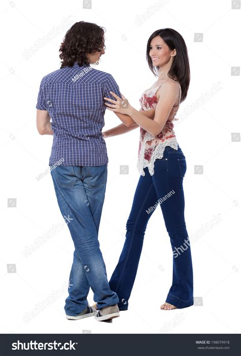 west coast swing right side pass social dance west coast swing demonstration stock photo