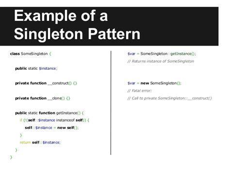 singleton pattern web api design patterns in php