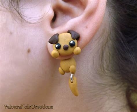 dogs with earrings pin by ornella di scala on polymer clay jewelry creations with dogs