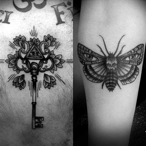 eye keyhole tattoo all seeing eye key tattoo moth with eyes in its wings